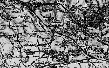 Old map of Lawton Heath End in 1897