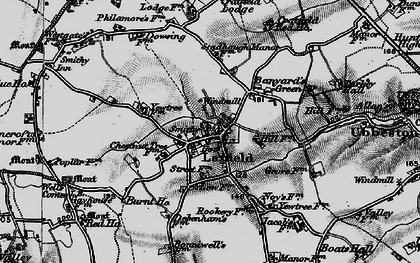 Old map of Banyard's Green in 1898