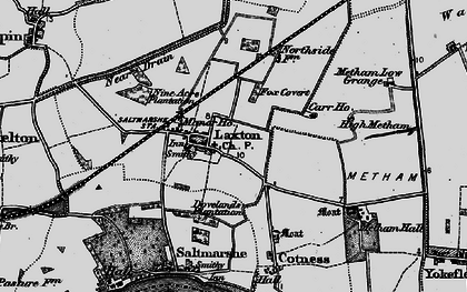 Old map of Laxton in 1895