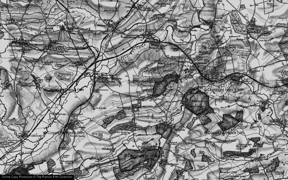 Old Map of Historic Map covering Adams Wood in 1898