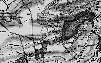 Old map of Laxton Hall in 1898