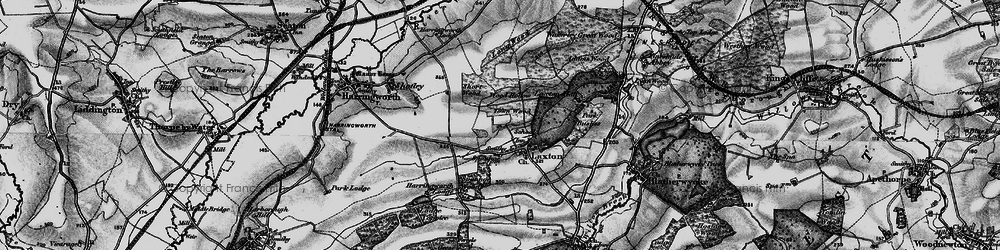 Old map of Laxton in 1898