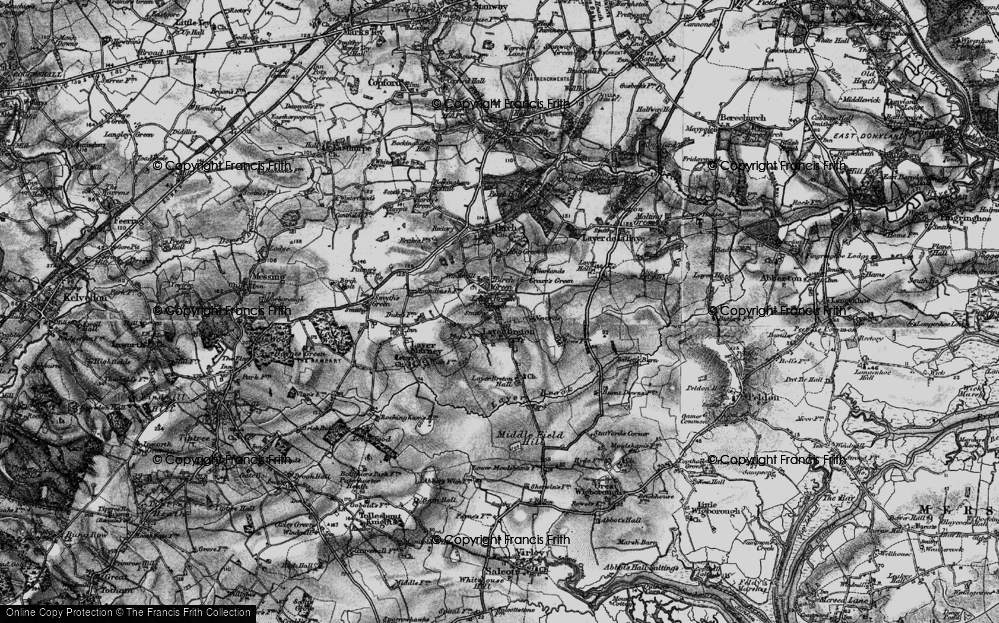 Old Map of Layer Breton, 1896 in 1896