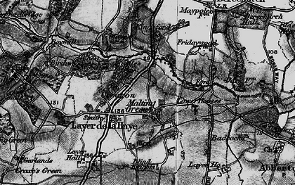 Old map of Abberton Reservoir in 1896