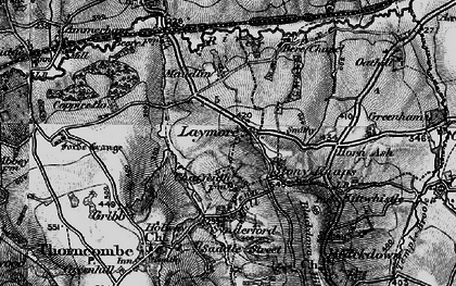 Old map of Laymore in 1898