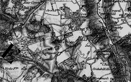Old map of Layters Green in 1896
