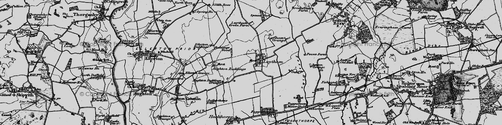 Old map of Laytham in 1898