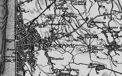 Old map of Layton in 1896