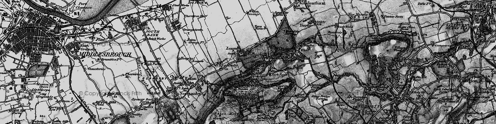 Old map of Lazenby in 1898