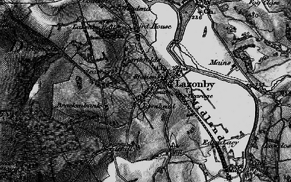Old map of Lazonby in 1897