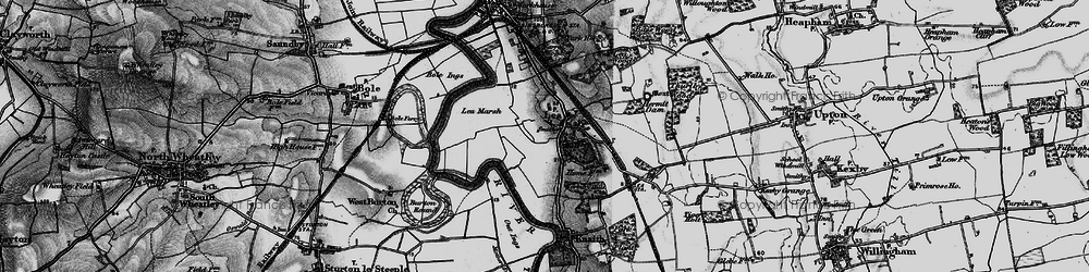 Old map of Lea in 1895