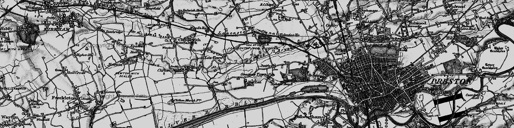 Old map of Lea in 1896