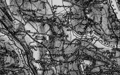 Old map of Lea in 1898