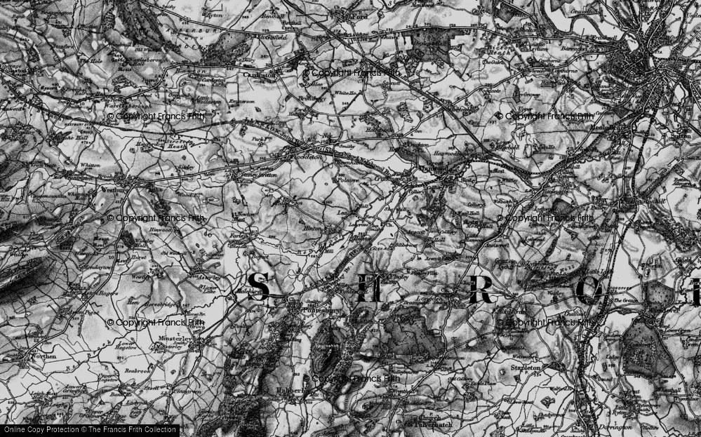 Old Map of Lea, 1899 in 1899