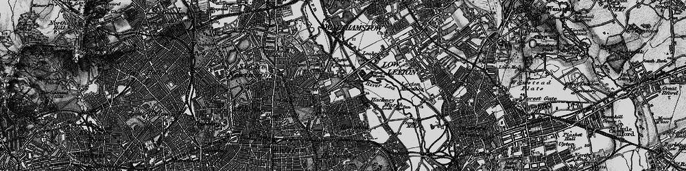Old map of Lea Bridge in 1896