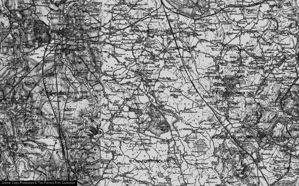 Old Map of Lea Forge, 1897 in 1897
