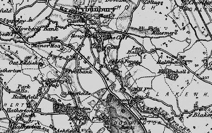 Old map of Lea Forge in 1897