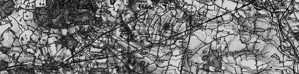 Old map of Lea Green in 1896