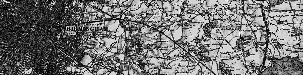 Old map of Lea Hall in 1899
