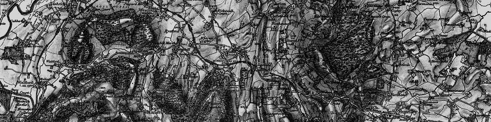 Old map of Lea Line in 1896