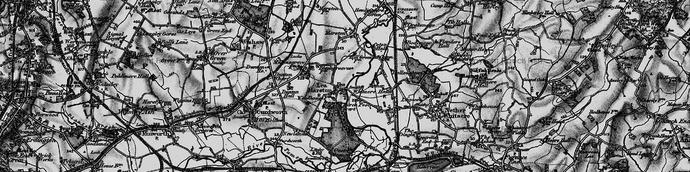 Old map of Lea Marston in 1899