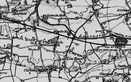 Old map of Lea Town in 1896