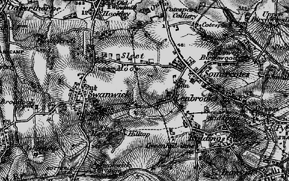 Old map of Leabrooks in 1895