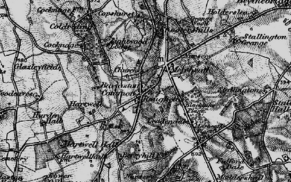 Old map of Leadendale in 1897