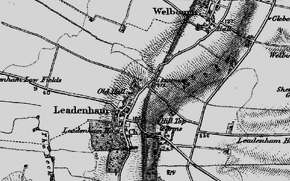 Old map of Leadenham in 1895