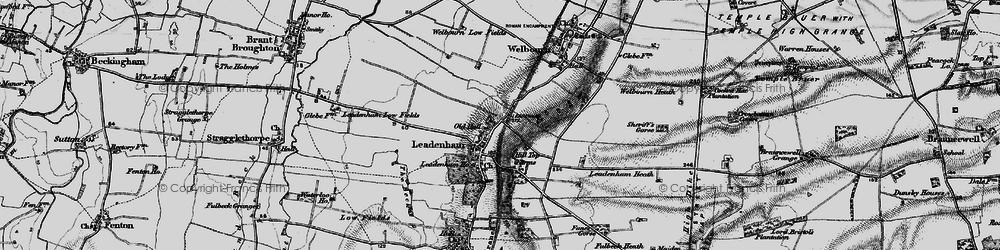 Old map of Leadenham in 1895