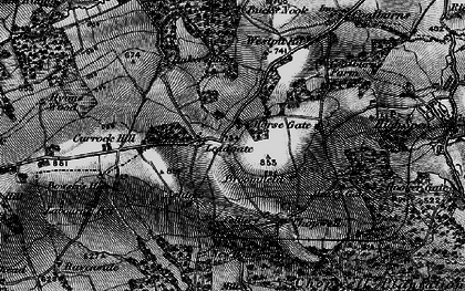 Old map of Leadgate in 1898