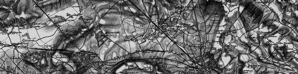 Old map of Leagrave in 1896