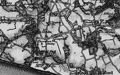 Old map of Yeatton Ho in 1895