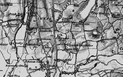 Old map of Leake in 1898