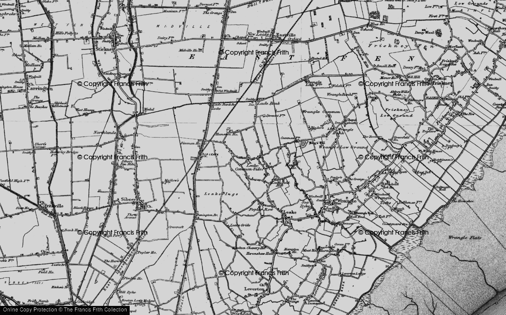 Old Map of Leake Commonside, 1898 in 1898