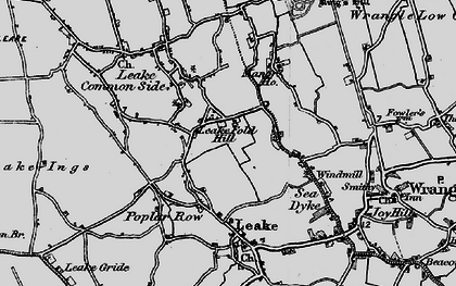 Old map of Leake Fold Hill in 1898