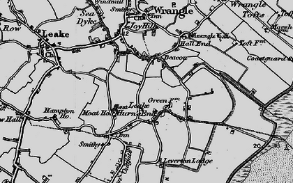 Old map of Leake Hurn's End in 1898