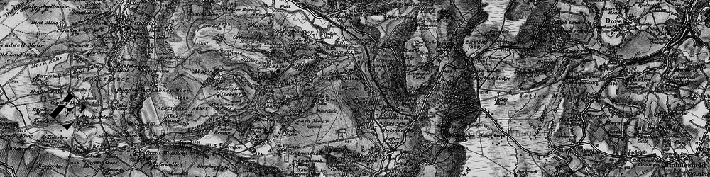 Old map of Leam in 1896