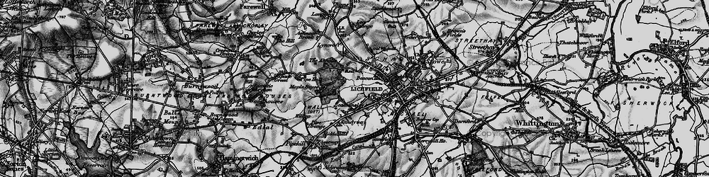 Old map of Abnalls, The in 1898