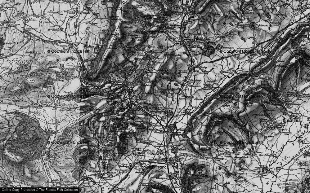 Old Map of Leamoor Common, 1899 in 1899