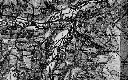 Old map of Lease Rigg in 1898