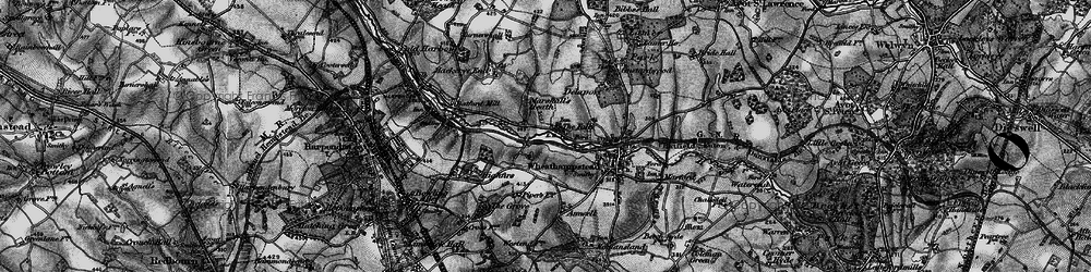 Old map of Leasey Bridge in 1896