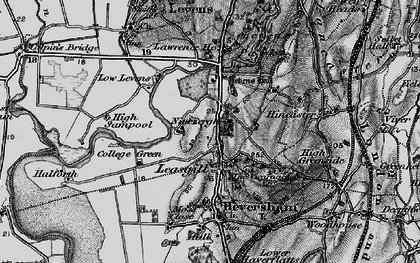 Old map of Leasgill in 1898
