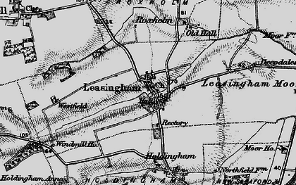 Old map of Leasingham in 1895