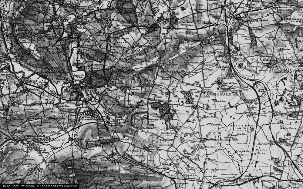 Old Map of Leasingthorne, 1897 in 1897
