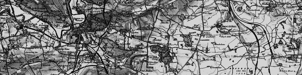 Old map of Leasingthorne in 1897
