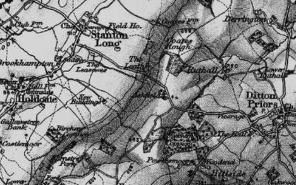 Old map of Ashfield in 1899