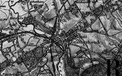 Old map of Leatherhead in 1896
