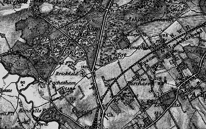 Old map of Woodlands Park in 1896