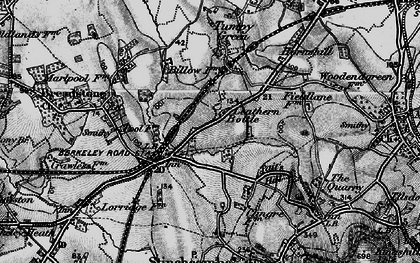 Old map of Leathern Bottle in 1897